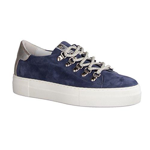Donna Carolina 37168-004- Damenschuhe Sneaker, Blau, Leder
