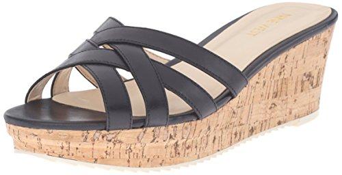 Nove En Cuir Western Caserta Platform Sandal Black