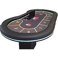 Newpokertable. Mesa de poker de 246x124 con led RGB interior y exterior,apoyabrazos extra alto ,caja de recaudación, fichero con tapa..