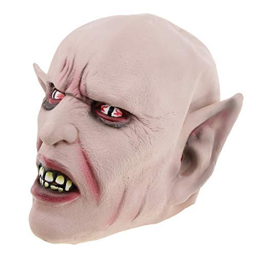 P Prettyia Gruselige Alien Teufel Cosplay Maske Halloween Kostüm Dekoration für Erwachsene und Kinder