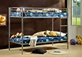 Comfy Living 3ft Saffron Single Twin Sleeper Bunk Bed Metal