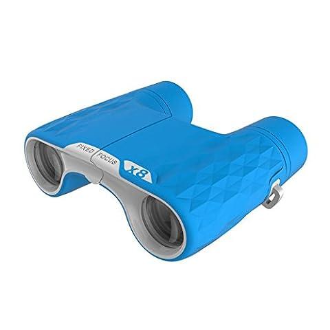 JBZP Spielzeug Fernglas Teleskop Kinder Feste Fokus Vergrößerung 8X Outdoor Exploration Weihnachten Geschenkcompact Und Portable (Blau)