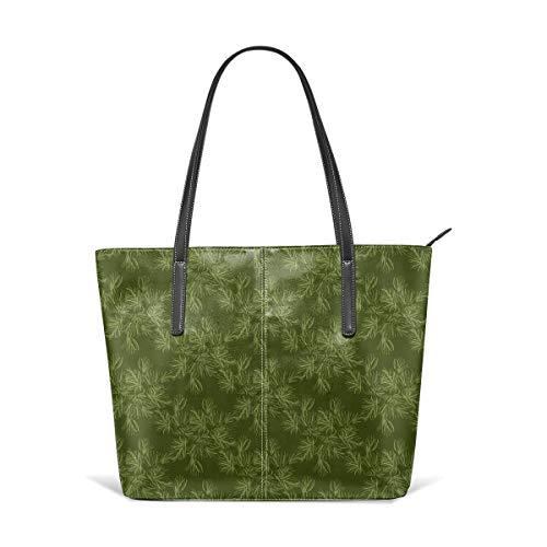 Dama Home Handtaschen für Frauen, Sage Green Pine Needle Tannenzapfen Baum Satchel Leder Umhängetasche, Totes Geldbörsen Messenger Bags - Home Tannenzapfen