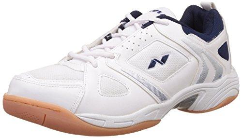Nivia Men's New Verdict Mesh PVC White Badminton Shoes - 9 UK