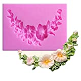ODN 3D Silikonform Blumenrebe Form Fondant Schokoladenform DIY Kuchen Tasse Kuchenform Tortendeko Mousse Sugarcraft Icing Pudding Schimmel Kuchendekoration
