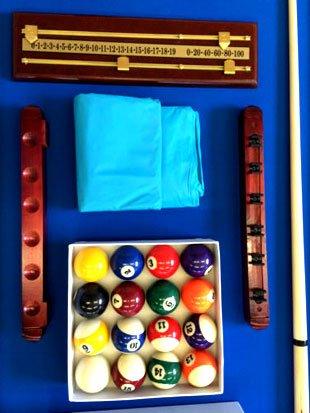 Billardtisch Billard Billard-Spiel Messung 220 x 110 cm neue 8 ft full optional - 7