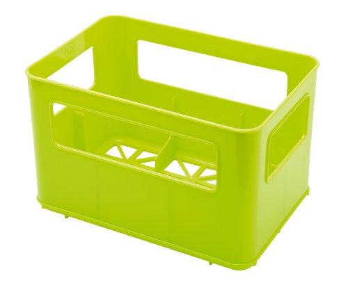 Rotho Babydesign Flaschenbox, Für 6 Flaschen, 21,5 x 14,5 x 13,6 cm, Grün, 300369992