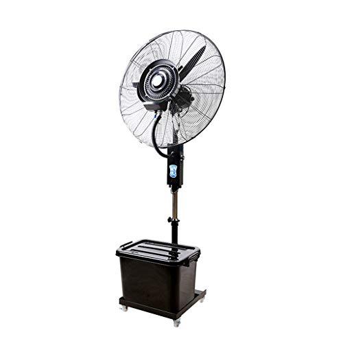 Kühl-Ventilator mit Sprühnebel/Standventilatoren/Sprühnebel ventilator outdoor/Ventilator Vernebler Außen Mikroklima Terrasse Garten Bar Wassertank 42 Liter