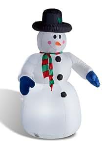 Bonhomme de neige gonflable lumineux 240 cm, décoration de Noël