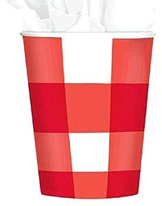 Amscan 589446Fiesta de picnic de 266ml vasos de papel