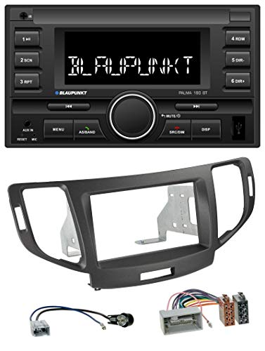 caraudio24 Blaupunkt Palma 190 BT MP3 USB 2DIN Bluetooth AUX Autoradio für Honda Accord ab 11 anthrazit