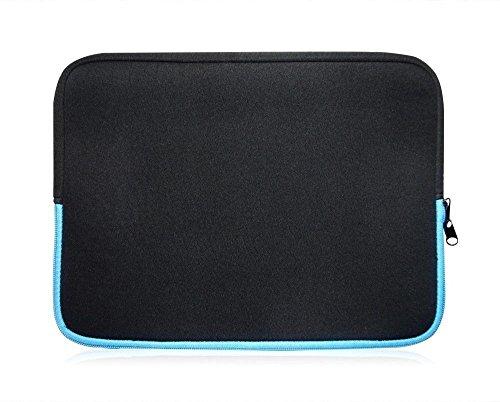 Sweet Tech Schwarz/Blau Neopren Schutzhülle Sleeve Passend für Blaupunkt Endeavour 1010 Tablet 9.7 Zoll