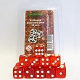 ADC Blackfire Entertainment 40024Blackfire 16mm D6Set in Box–transparent (15Würfel), rot