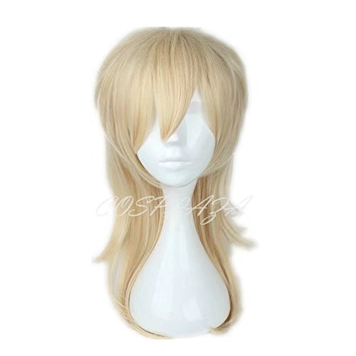 Kaoru Kostüm (COSPLAZA Perücke High Temperature Harajuku Mixed Blond modische Unisex Cosplay Wig)
