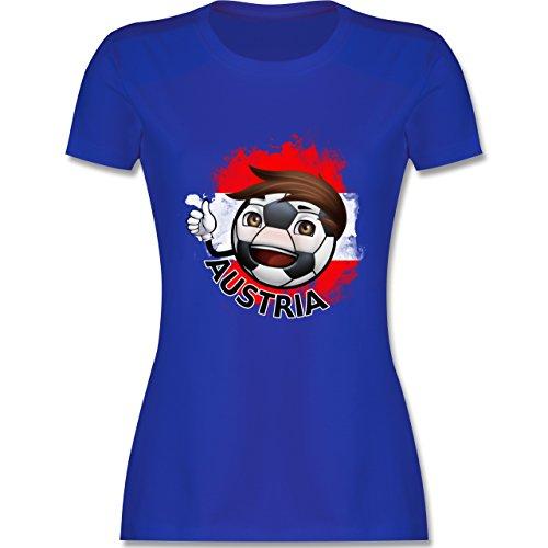 EM 2016 - Frankreich - Fußballjunge Österreich - tailliertes Premium T-Shirt mit Rundhalsausschnitt für Damen Royalblau