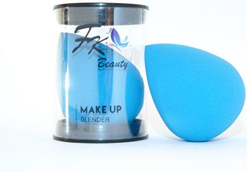 Esponja de maquillaje FK Beauty: sin látex, forma de gota en azul intenso. 1 esponja por pack (mensaje especial en el interior)