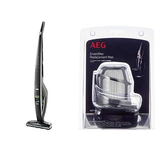 AEG CX8-2-80Ö Akku-Staubsauger (55% Recyclingmaterial, beutellos, bis zu 80 Min. Laufzeit, freistehend, 180° Drehgelenk…
