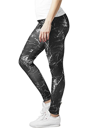 Urban Classics tb909Ladies SPRINKLED Legging Streetwear pantalon femme blk/wht