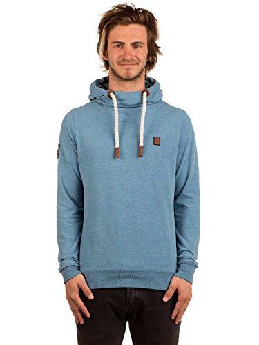 Naketano -  Felpa con cappuccio  - Basic - Maniche lunghe  - Uomo Blu chiaro melange