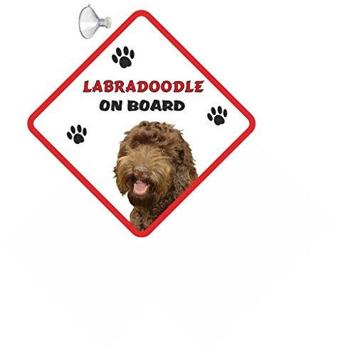 Labradoodles Zeichen KFZ-für Hunde mit Saugnapf aus Gummi 157