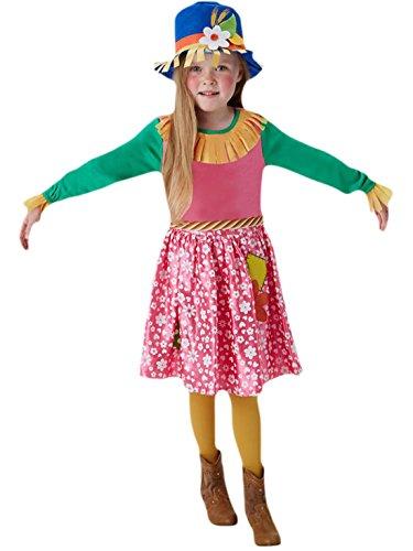 erdbeerloft - Mädchen Karnevals Komplett Kostüm Mrs Scarecrow Vogelscheuche , Mehrfarbig, Größe 110-116, 5-6 Jahre