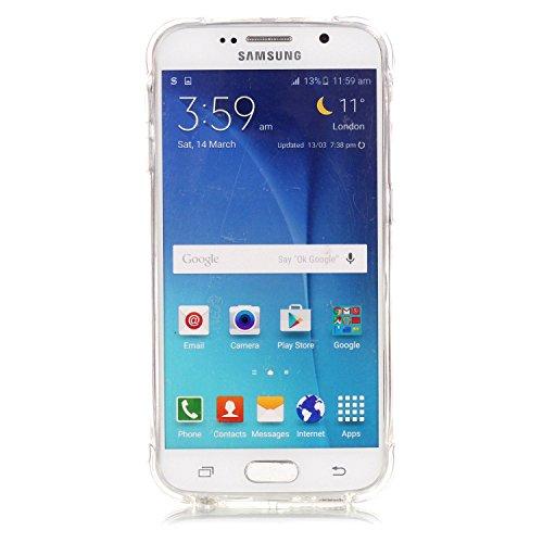Samsung Galaxy S6 Coque,Samsung Galaxy S6 Gel Motif métallique TPU Case Feeltech Apple iPhone SE Case Silicone Clair Ultra Mince Premium Bumper iPhone 5S Housse Légère Étui Protecteur Transparente Sou Pissenlit noir