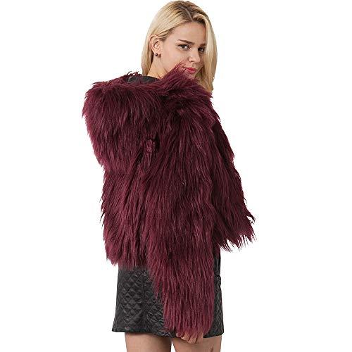 iHENGH Vorweihnachtliche Karnevalsaktion Damen Herbst Winter Bequem Lässig Mode Frauen warme Kunstpelz Mantel Jacke Winter solide Kapuze Parka Oberbekleidung