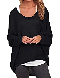 ZANZEA Women Loose Solid Irregular Long Sleeve Baggy Jumper Casual Tops  Blouse T-Shirt cbffba29b