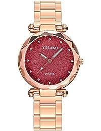 Mymyguoe Reloj de dial prismático Reloj Mujer Relojes Hombre Unisex Reloj  de Pulsera Relojes de Pulsera para Hombres Reloj Mujer… 7d583c1db283