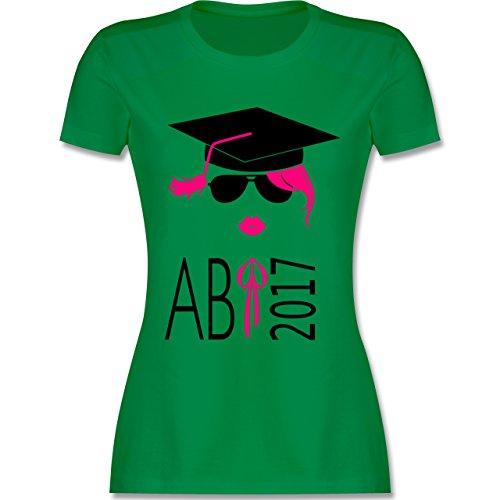 Abi & Abschluss - Hipster Abi 2017 Kussmund - tailliertes Premium T-Shirt mit Rundhalsausschnitt für Damen Grün