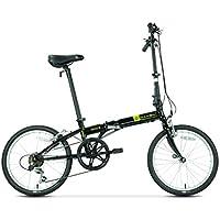 Monociclos Bicicleta Plegable Bicicleta Unisex Rueda de 20 Pulgadas con 6 velocidades clásica de Bicicleta de Velocidad (Color : Black, Size : 149 * 33 * 107cm)