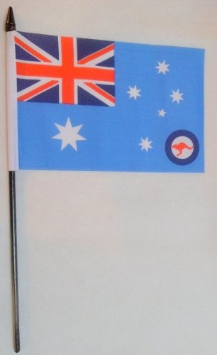 12 x Australia Australien British Royal Air Force x 15.24 cm - 10.16 cm mit Flaggen Sticks (Air Force Stick-flag)