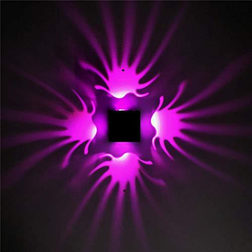 uchte Led Innen Modern Wandbeleuchtung Studio Metall Restaurant Treppen Palm Aluminium Lichteffekt Lichtleiste Ktv Effektlicht Dekoratives Licht Lila Licht 3W ()