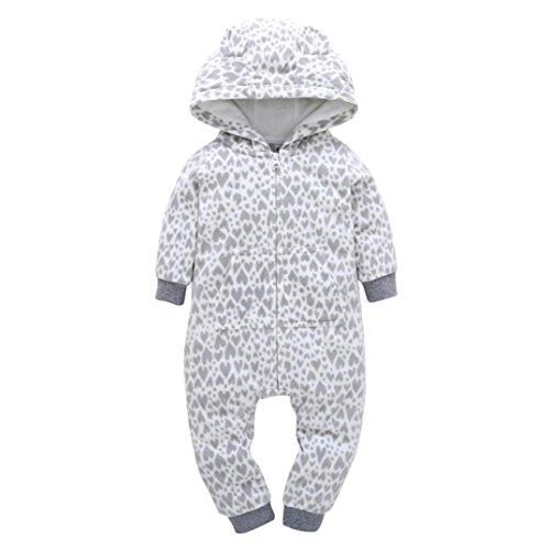 Halloween 5k Kostüme (ZIYOU Baby Jungen Mädchen Dicker Warme Strampler Kapuzenpullover Jumpsuit (24M,)