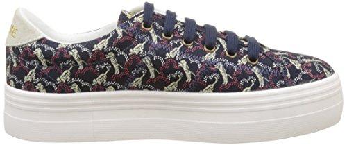 NONAME Plato Sneaker Pink Twill P, Tiger, Basse Donna Bleu (Navy Fox White)