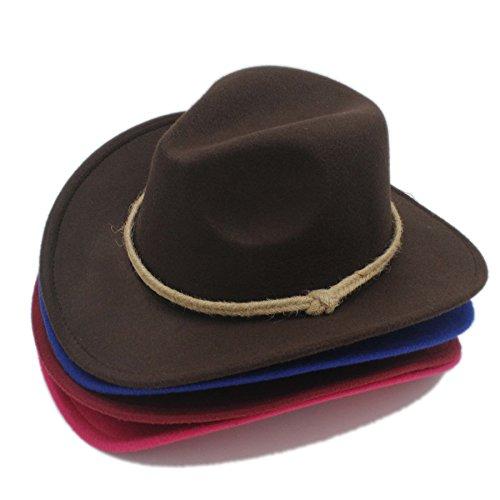 FeiNianJSh Chapeau pour Femmes/Hommes Rétro Chapeu Chapeau Cowboy Ouest pour Cowgirl Gentleman Large Bord Brim Église Chapeau Cloche Sombrero Cap Haut