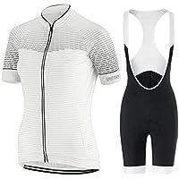 GWJ Ladies Cycling Jersey Half Sleeve Bike Team Racing Top + Culotte Corto,XXL