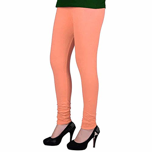 Peach Churidaar Cotton Leggings