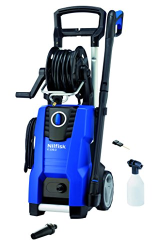 Nilfisk E 130.3-9 X-TRA Vertical Eléctrico 500, 450l/h 2100W Negro, Azul Limpiadora de alta presión o Hidrolimpiadora - Limpiador de alta presión (Vertical, Eléctrico, 9 m, 5 m, Negro, Azul, Aluminio)