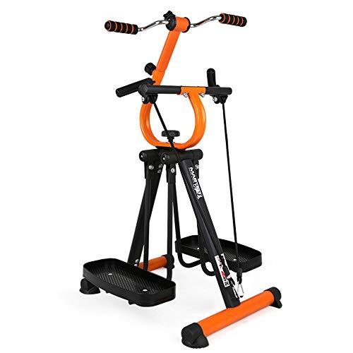 Pieghevole Air Walk Trainer Macchina ellittica per il fitness Stepper Glider per Gym Home Office - Attrezzatura per la riabilitazione di fitness con resistenza regolabile - Pedalatore per anziani