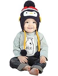 SMARTLADY - 2016 Pingüino Sombreros del Bebé Unisex Niña Niño Invierno Cálido Gorra