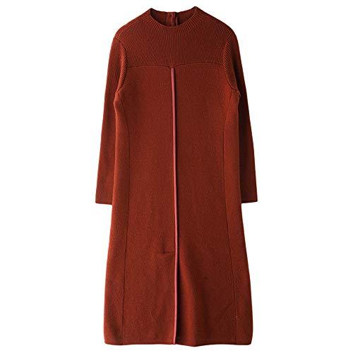 Wuxingqing Vintage Swing Partykleid für Damen Stretchy Sweater Dress Basic Paragraph für Mädchen Frauen Alltag Shopping Damen Abendkleid (Farbe : ()