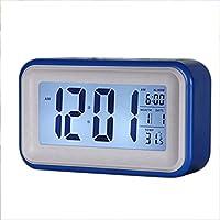 Sonline Touch-LCD-Digital-Wecker LED-Licht Snooze Hintergrundbeleuchtung Digit Zeit Kalender - blau preisvergleich bei billige-tabletten.eu