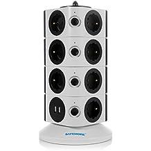 Safemore Multipresa Ciabatta Elettrica Torre con 15