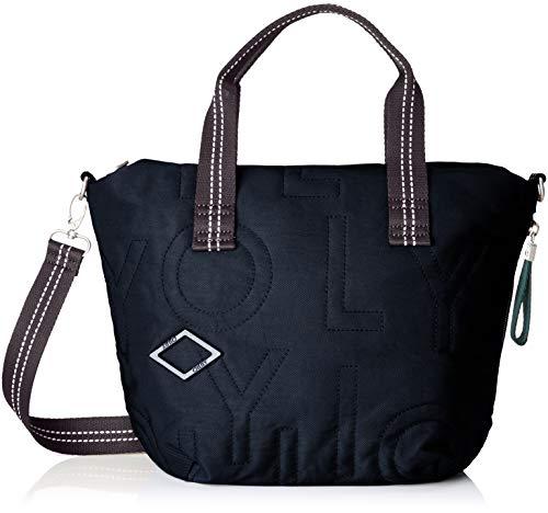 Oilily Damen Spell Handbag Mhz Henkeltasche, Blau (Dark Blue), 15x23x37 cm