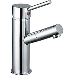 DP Grifería – Grifo monomando de lavabo, color plateado, serie Haya