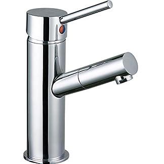 413x8AO8WTL. SS324  - DP Grifería - Grifo monomando de lavabo, color plateado, serie Haya