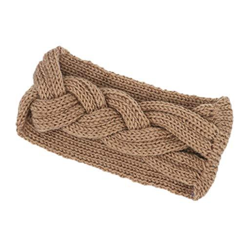85271a43742f3c Xmiral Damen Haarband Gestrickte Stirnbänder Winter Warm Head Wrap Reine  Farbe Breite Haarschmuck.