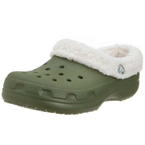 crocs Jungen Kids Mammoth Pantoletten Grün/Beige (Army Green/Oatmeal) 29/31 EU (Mammoth Crocs Kinder)