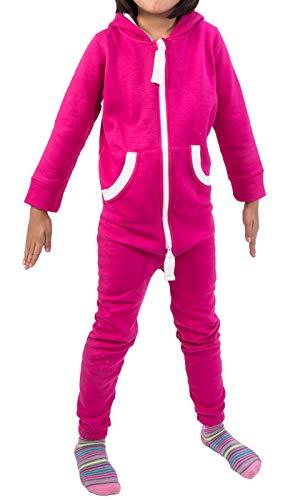 Rock Creek Kinder Jumpsuits Overall Jogger Onesie Jumpsuit Anzug Sportanzug Pyjama Fleecejumpsuit Jungen Mädchen D-385 Rosa 146-152